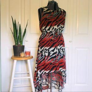 SALE! 2 for $25 Animal Print High Low Dress